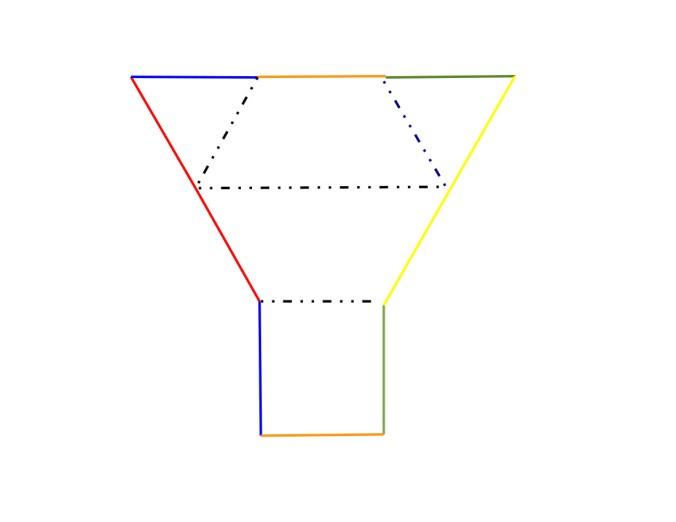 Тетраэдр из двух тел